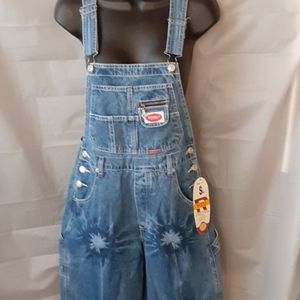 Overalls Tie Dyed Look Hippy Bo Ho NWT Size Small